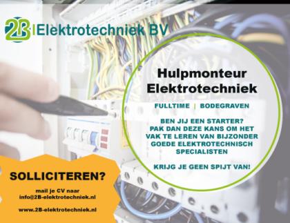 Vacature Hulpmonteur Elektrotechniek in Bodegraven
