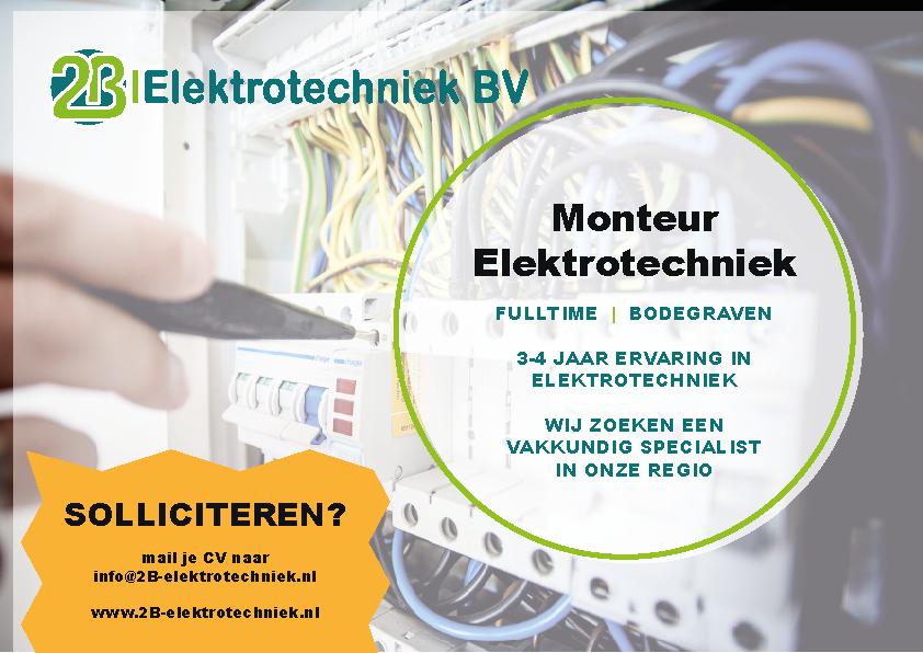 werken in Bodegraven Monteur Elektrotechniek